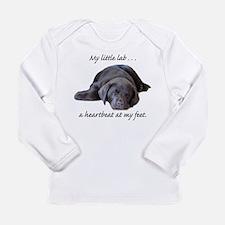 Chocolate Lab Heartbeat Long Sleeve Infant T-Shirt