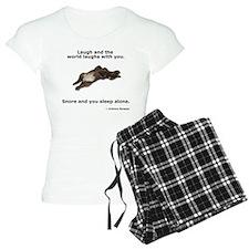 Snoring Chocolate Labrador Pajamas