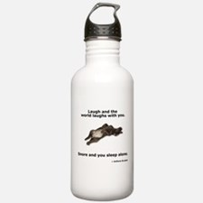 Snoring Chocolate Labrador Sports Water Bottle
