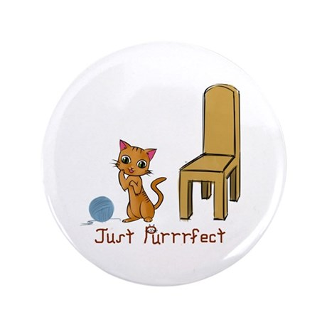 """Just Purrrfect 3.5"""" Button (100 pack)"""