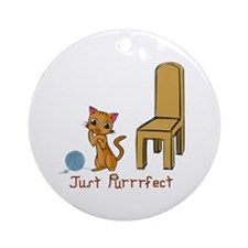 Just Purrrfect Ornament (Round)