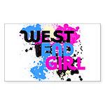West end Girl Sticker (Rectangle 50 pk)