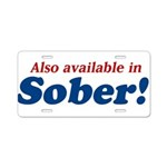 Available in Sober Aluminum License Plate