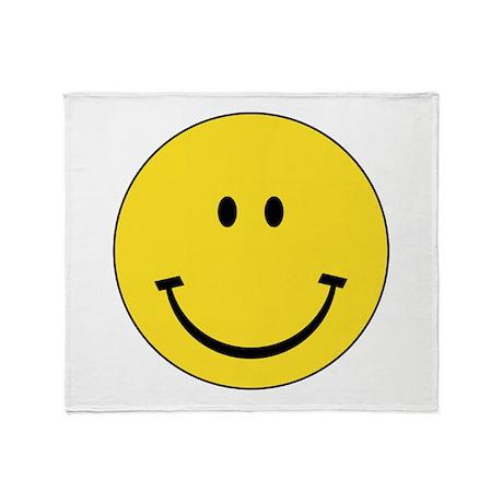 Retro Smiley Face Throw Blanket