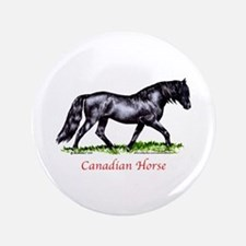 "Canadian Horse 3.5"" Button"