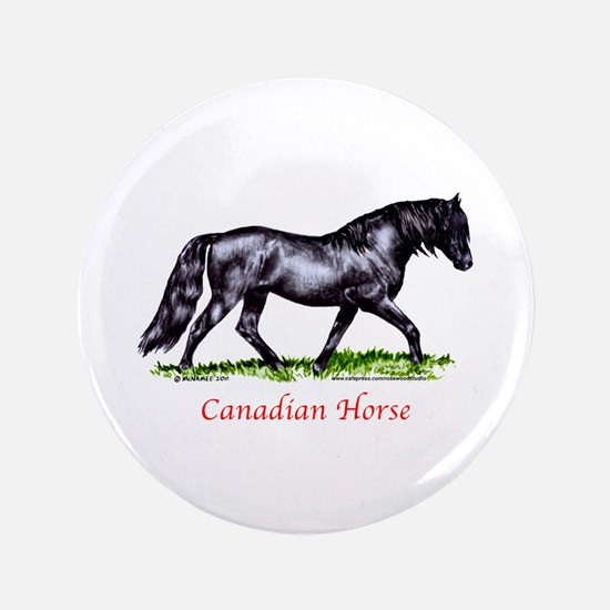 """Canadian Horse 3.5"""" Button"""