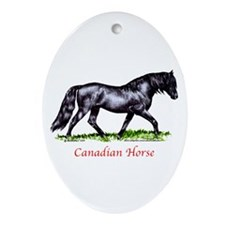 Canadian Horse Ornament (Oval)