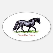 Canadian Horse Sticker (Oval)