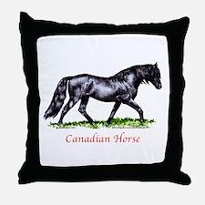 Canadian Horse Throw Pillow