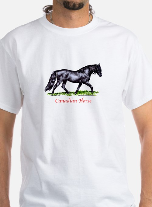 Canadian horse t shirts shirts tees custom canadian for Personalized t shirts canada