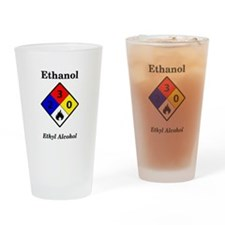 Ethanol MSDS Label Pint Glass