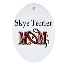 Skye Terrier Mom Oval Ornament