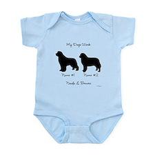 Newf and Berner Infant Bodysuit