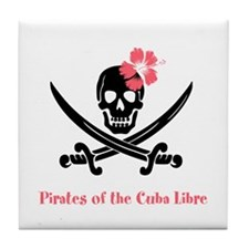 Pirates of the Cuba Libre Tile Coaster