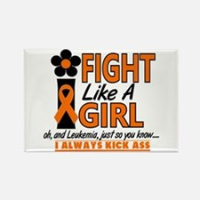 Licensed Fight Like a Girl 1.2 Le Rectangle Magnet