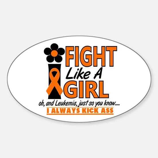 Licensed Fight Like a Girl 1.2 Leuk Sticker (Oval)