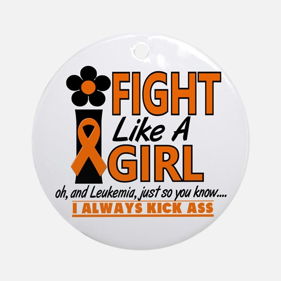 Licensed Fight Like a Girl 1.2 Le Ornament (Round)