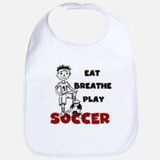 Eat Breathe Play Soccer Bib