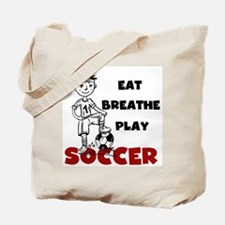 Eat Breathe Play Soccer Tote Bag
