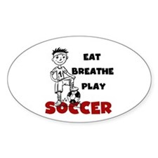 Eat Breathe Play Soccer Decal