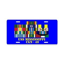 USS Mississippi CGN-40 Aluminum License Plate