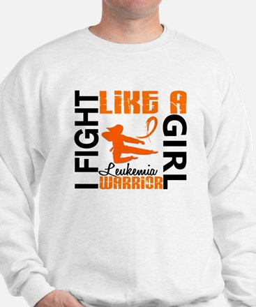 Licensed Fight Like a Girl 3.2 Leukemia Sweater