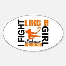Licensed Fight Like a Girl 3.2 Leuk Sticker (Oval)
