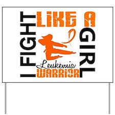 Licensed Fight Like a Girl 3.2 Leukemia Yard Sign
