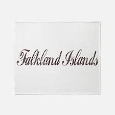Vintage Falkland Islands Throw Blanket