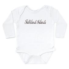 Vintage Falkland Islands Long Sleeve Infant Bodysu