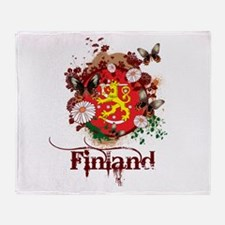 Butterfly Finland Throw Blanket