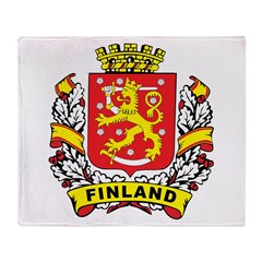 Stylish Finland Crest Throw Blanket