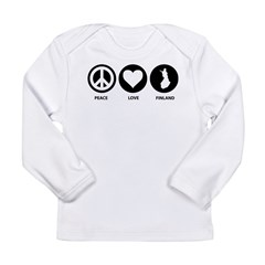 Peace Love Finland Long Sleeve Infant T-Shirt