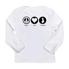 Peace Love Finland Long Sleeve Infant T-Shirt