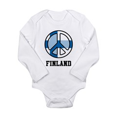 Peace In Finland Long Sleeve Infant Bodysuit