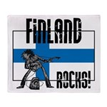 Finland Rocks Throw Blanket