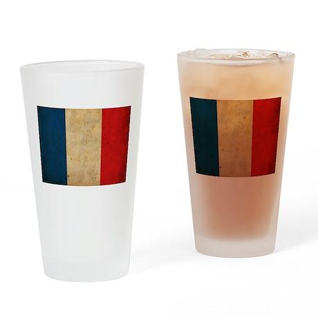Vintage France Flag Pint Glass