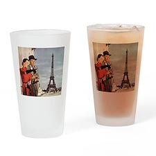 Vintage Eiffel Tower Drinking Glass