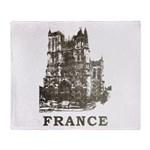 Vintage France Throw Blanket