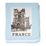 Vintage France baby blanket