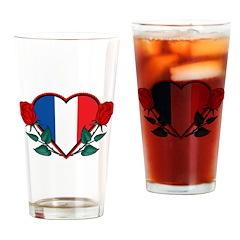 Heart France Pint Glass