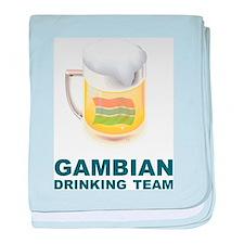 Gambian Drinking Team baby blanket