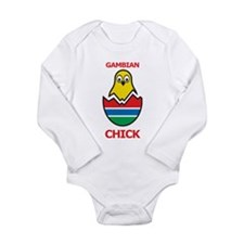 Gambian Chick Long Sleeve Infant Bodysuit