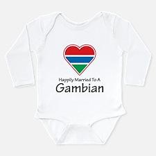 Happily Married Gambian Long Sleeve Infant Bodysui