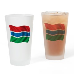 Wavy Gambia Flag Pint Glass