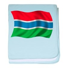 Wavy Gambia Flag baby blanket