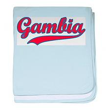 Retro Gambia baby blanket