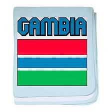 Gambia Flag baby blanket