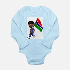 3D Gambia Long Sleeve Infant Bodysuit