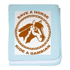 Ride A Gambian baby blanket